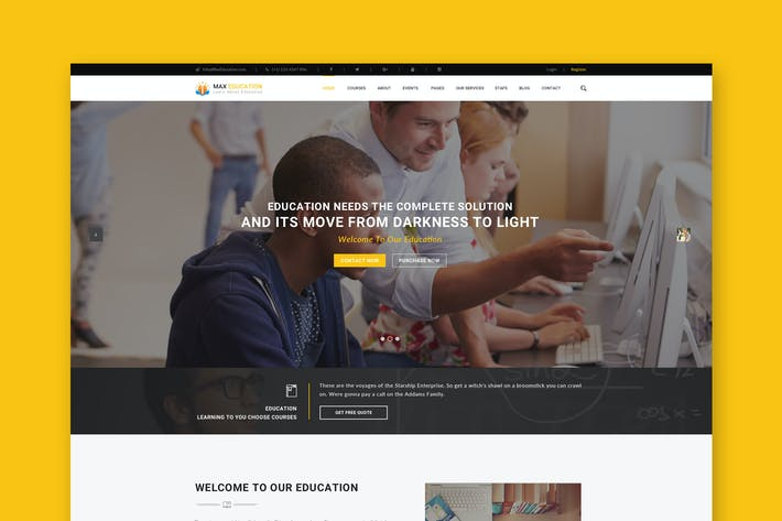 Thumbnail for Education & University Website PSD Template