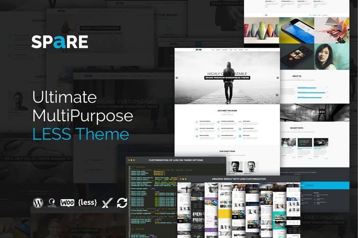 Thumbnail for Spare - Ultimate MultiPurpose LESS Theme