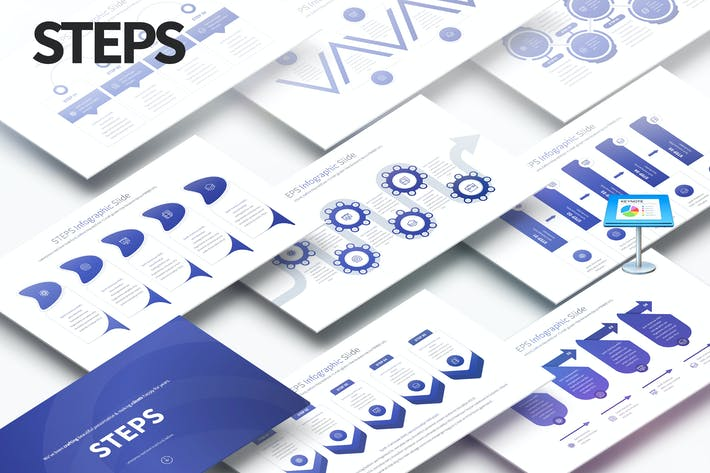 ШАГИ - Слайды Инфографика Keynote