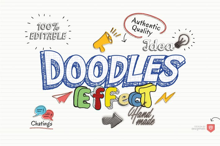 Thumbnail for Doodles Text Effect