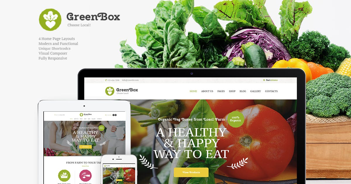 Download Green Box   Eco Farm & Organic Products Store WP by AncoraThemes