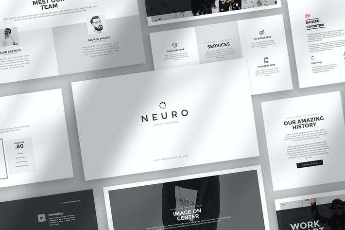 Thumbnail for Нейро Google Слайды Шаблон
