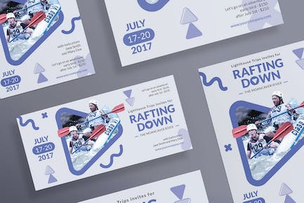 Rafting Adventure Flyer and Poster Template