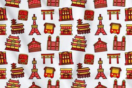 Tokyo City Seamless Pattern Vol. 1