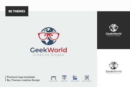 Geek World Logo Template