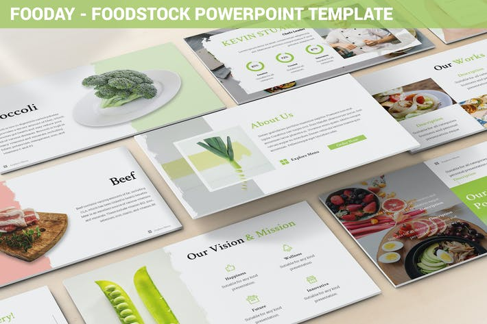 Thumbnail for Fooday - Foodstock Powerpoint Template