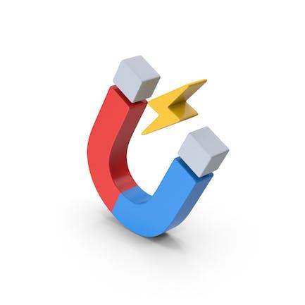 Symbol Magnet farbig