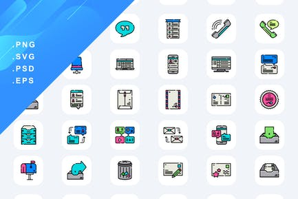 40 Dialogue Assets Icons