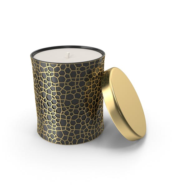 Gold Holiday Candle