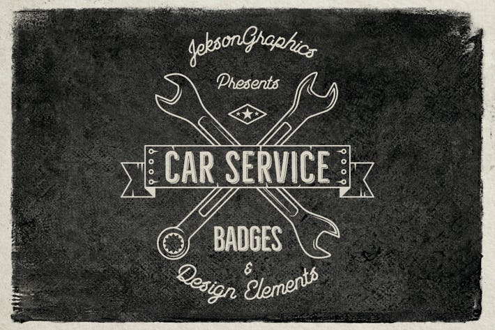 Thumbnail for Car Service Vintage Logo / Retro Badges & Elements