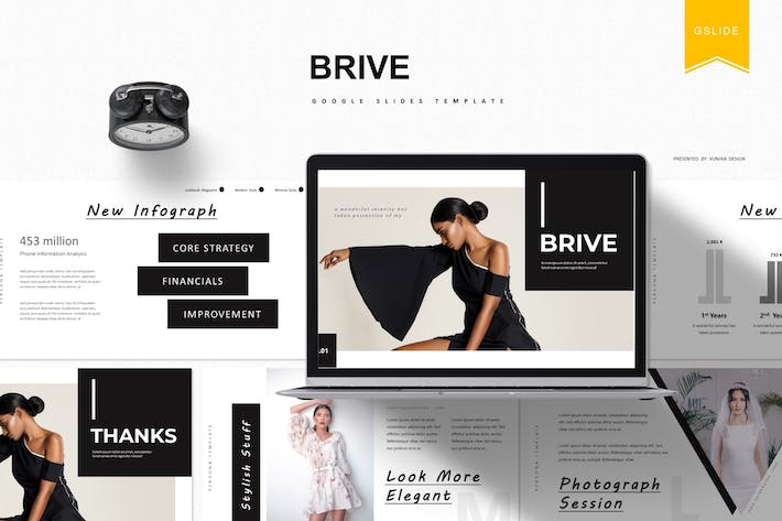 Thumbnail for Brive | Google Slides Template