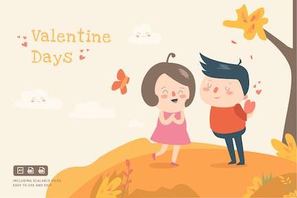 Valentinstag - IlustrationsVorlage