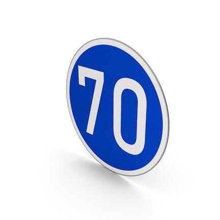 Road Sign Minimum Speed Limit 70