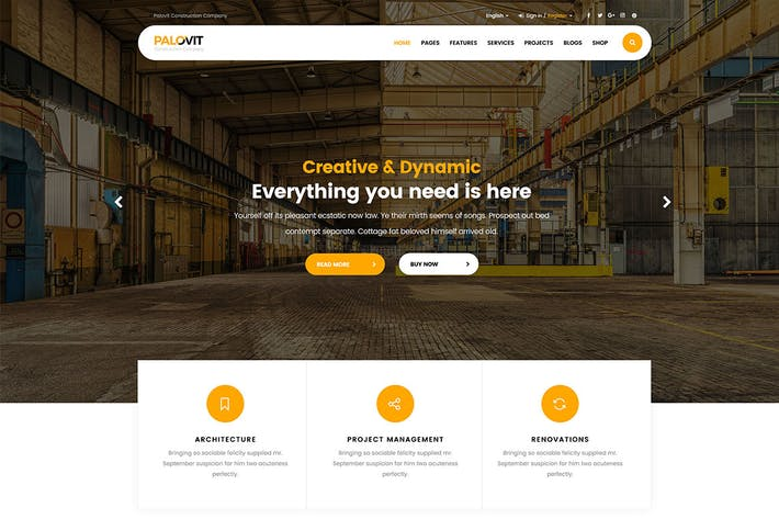 Thumbnail for Construction Corporate Multipurpose Template