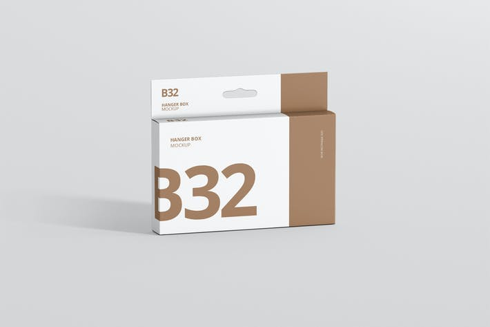 Box Mockup - Large Slim Rectangle Taille avec Cintre