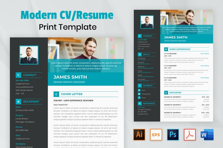 Cover Image For Nuzie - Modern Resume Template