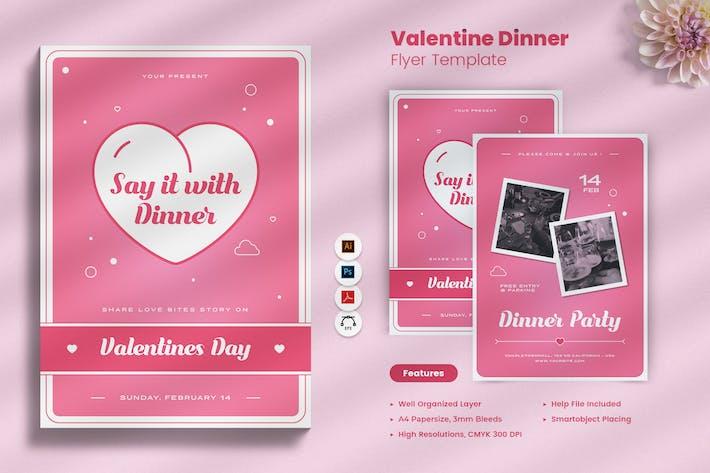 Thumbnail for Valentine Day Dinner Flyer