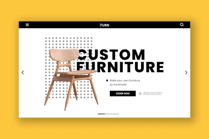 Thumbnail for Furniture Hero Header Template