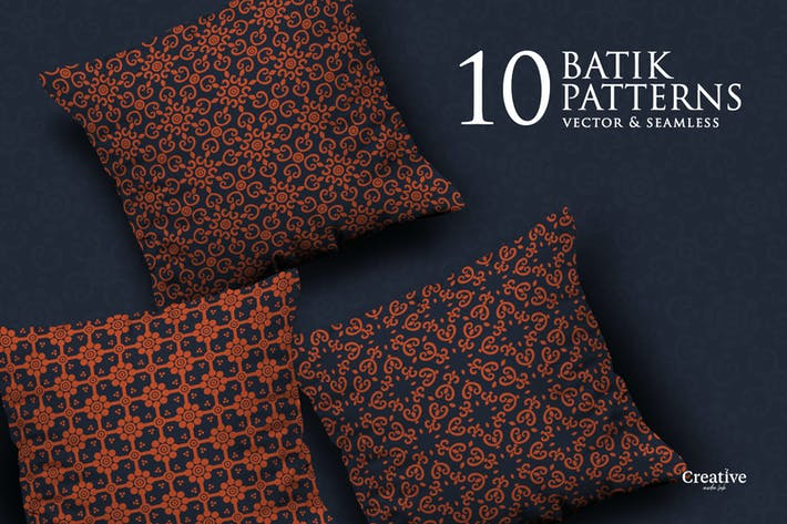 Thumbnail for Ensemble de motifs sans couture Batik