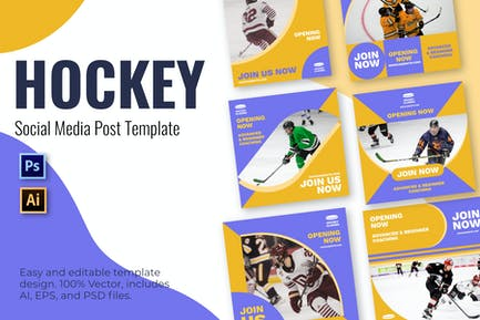 Hockey Join Social Media Template