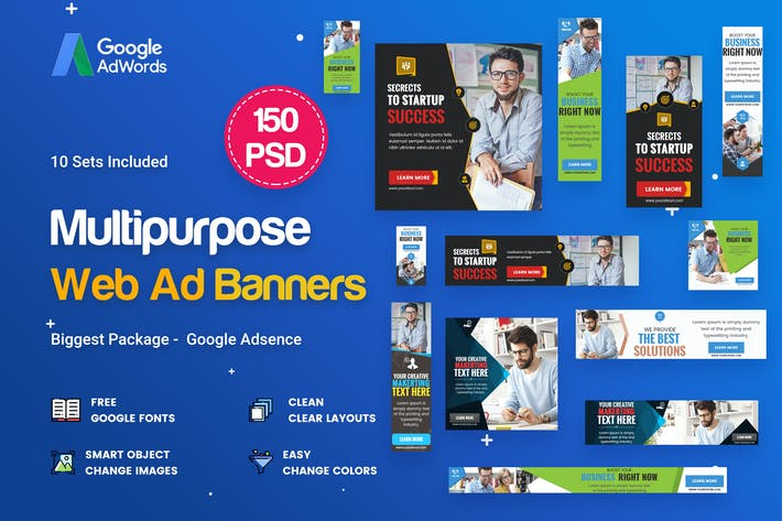 Thumbnail for Multipurpose, Business  Banners Ad - 150 PSD