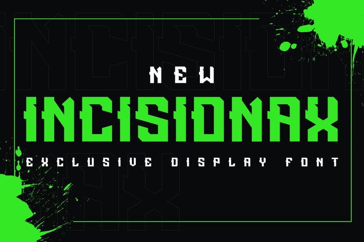 Thumbnail for Incisionax Exclusive Display Font