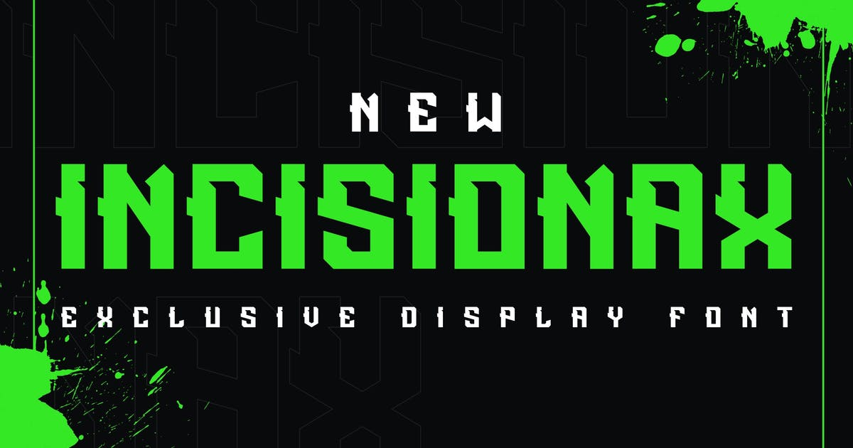 Download Incisionax Exclusive Display Font by ovozdigital