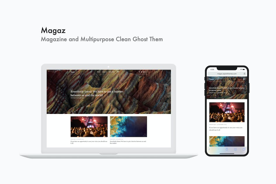 Download Magaz - Magazine and Multipurpose Clean Ghost Them by aspirethemes