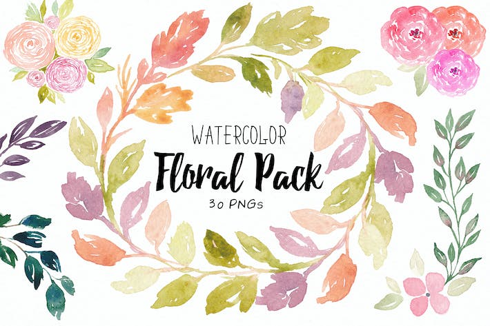 Thumbnail for Floral Watercolor Collection