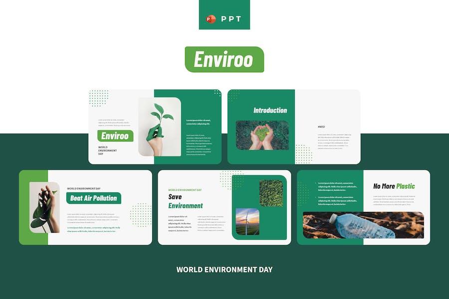 ENVIROO - Всемирный день окружающей среды Powerpoint Templat