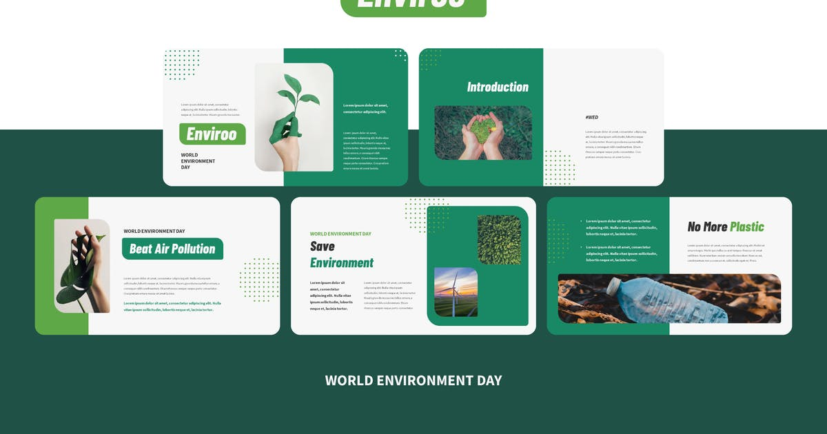 Download ENVIROO - World Environment Day Powerpoint Templat by inipagi