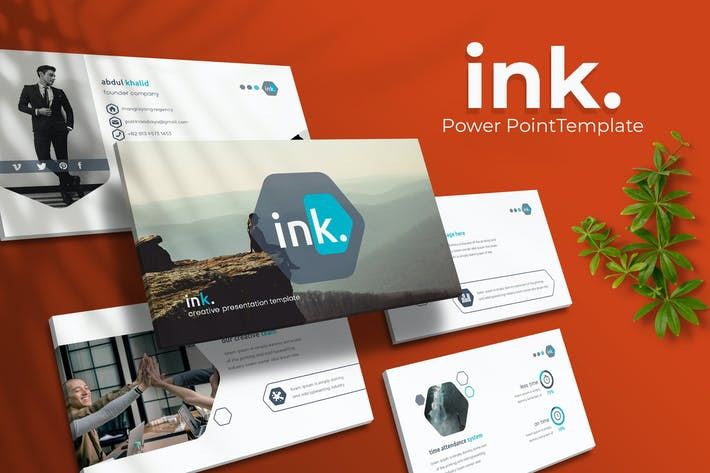 Thumbnail for ink. - Powerpoint Template