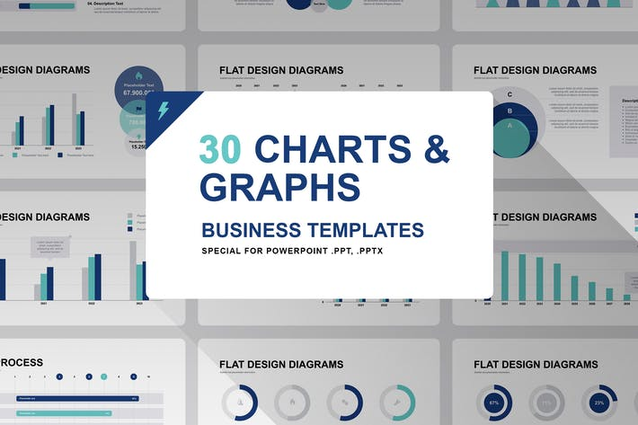 Thumbnail for Graphs and Charts for PowerPoint