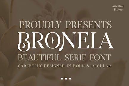 Bronela - Con serifa de moda