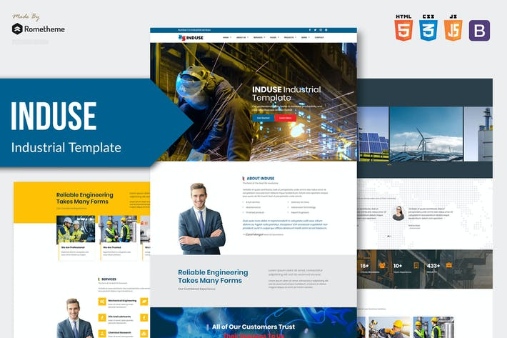 Thumbnail for INDUSE - Industrial Services HTML Template RS