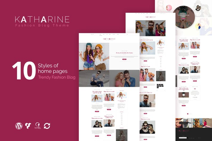 Thumbnail for Katharine - Modern Fashion Blog WordPress Theme