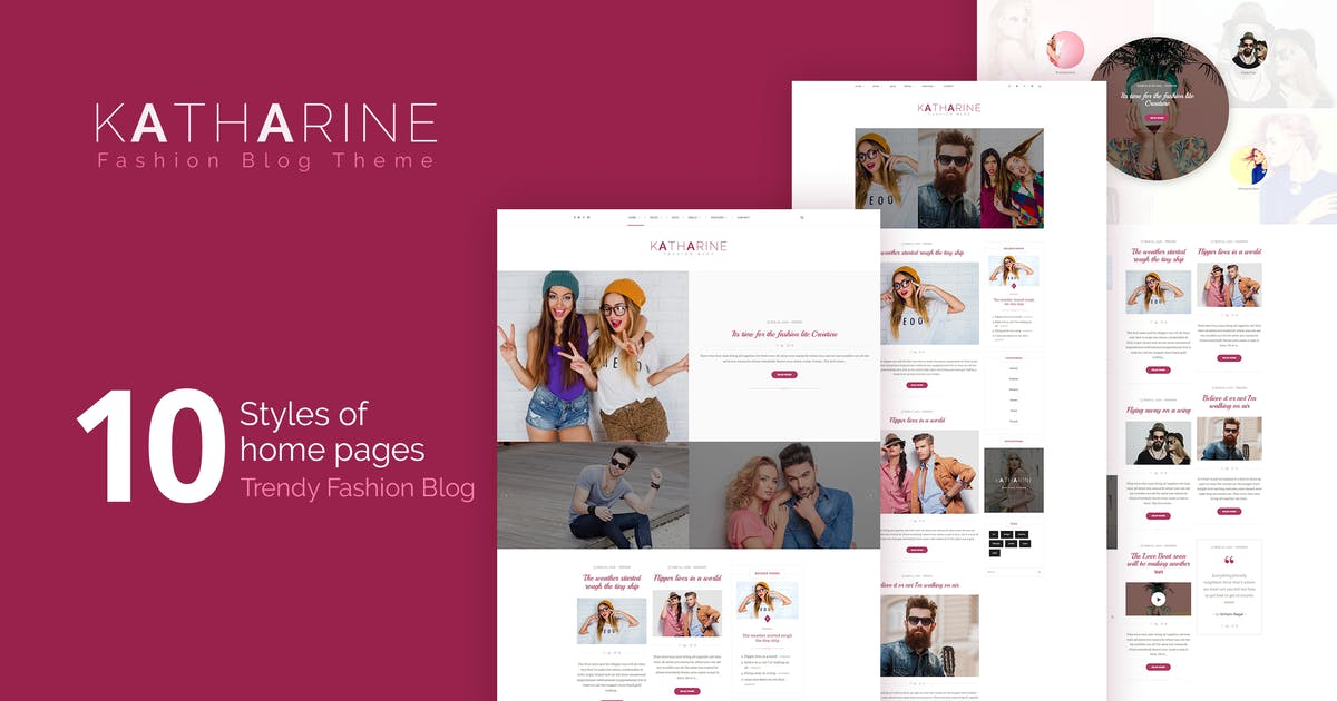 Download Katharine - Modern Fashion Blog WordPress Theme by themeton