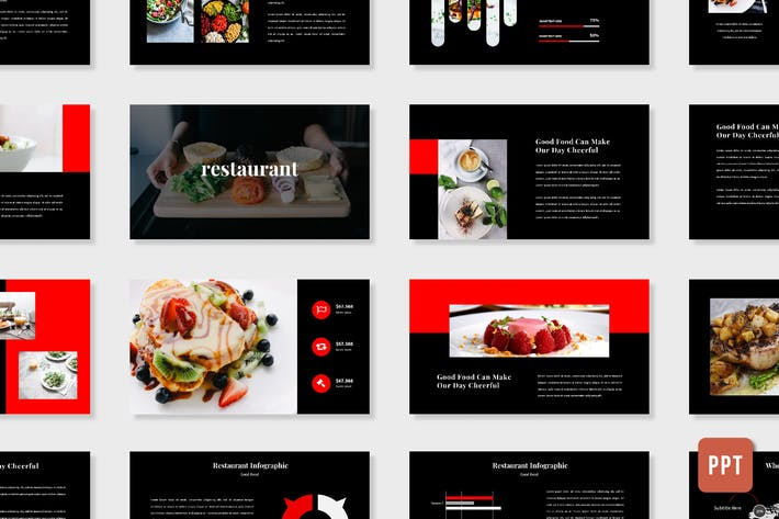 Thumbnail for Restaurant Presentation Template - (PPT)