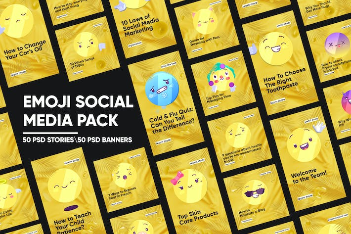 Thumbnail for Emoji Social Media Pack