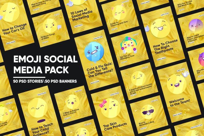 Thumbnail for Pack de médias sociaux Emoji