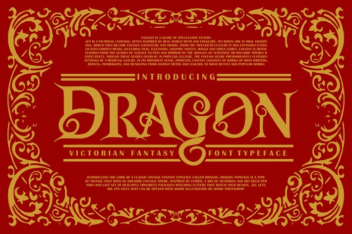 Thumbnail for Dragon | Victorian Fuente Tipo de letra