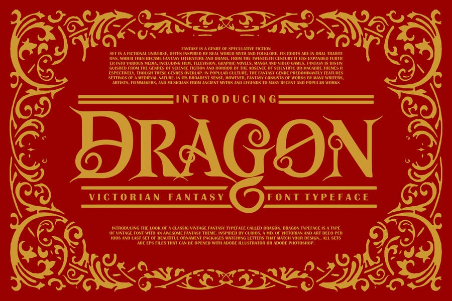 Dragon | Victorian Font Typeface