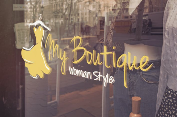 Thumbnail for Boutique Logo Glass Mockup