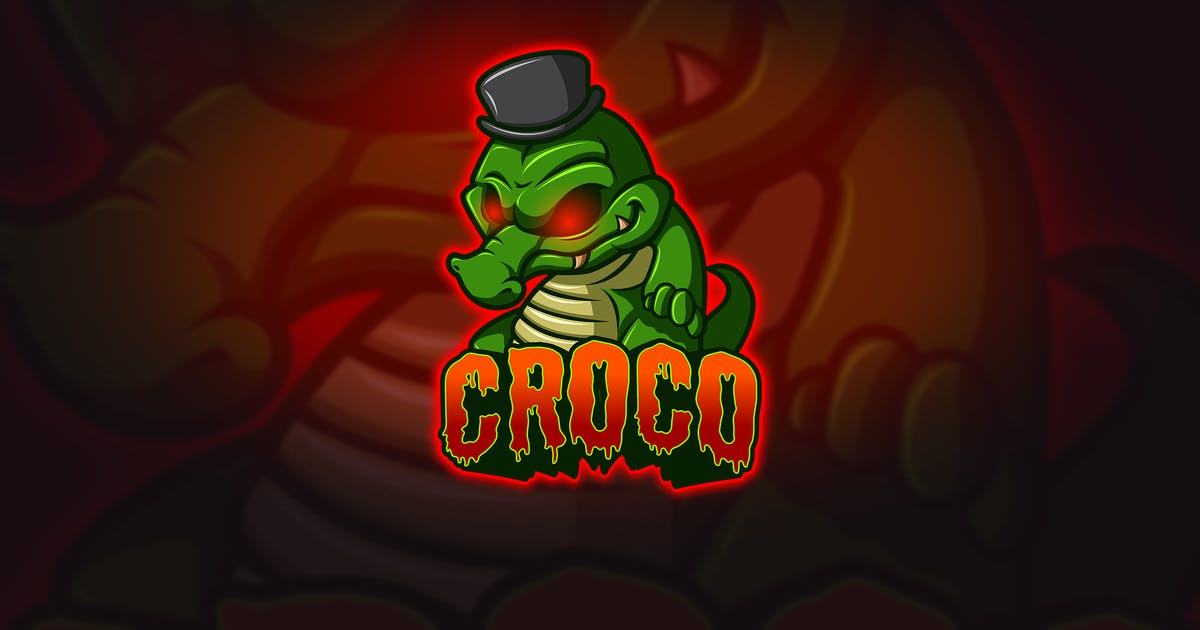 Download Croco - Mascot & Esport Logo by aqrstudio