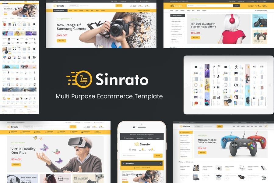 Sinrato - Electronics Prestashop Theme - product preview 0