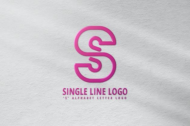 S Single Line Logo