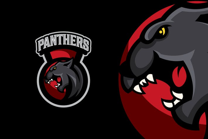 Panther Fitness Logo Template