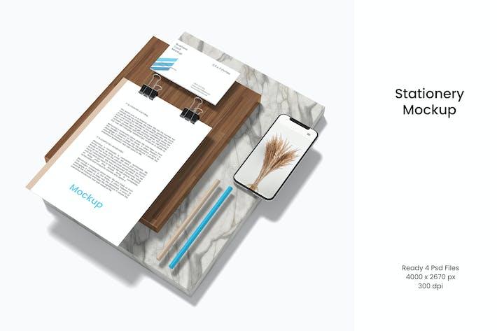 Thumbnail for Minimal  Stationery Branding Mockup V.2