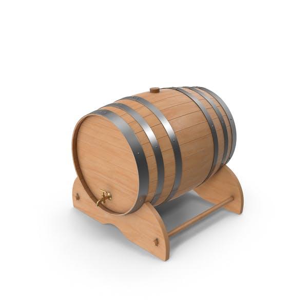 Деревянная бочка вина