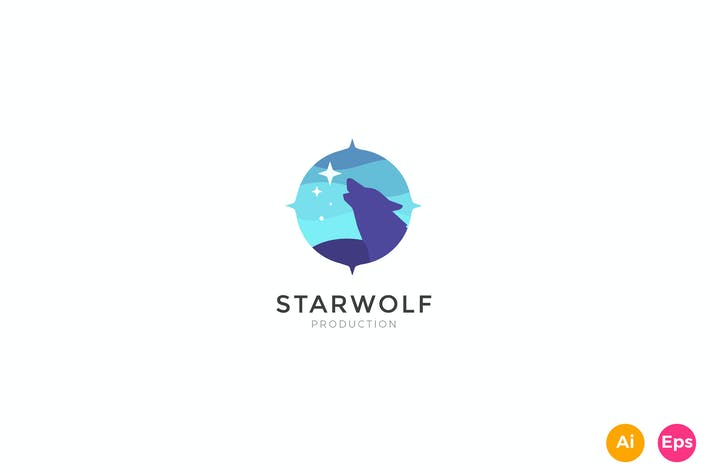 Thumbnail for Star Wolf Creative Studio Logo Template